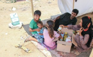 Christians in refugee camp in Turkey receive a care package
